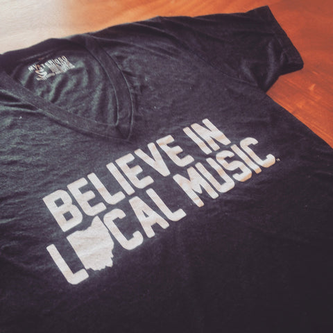 Believe In Local Music V-Neck