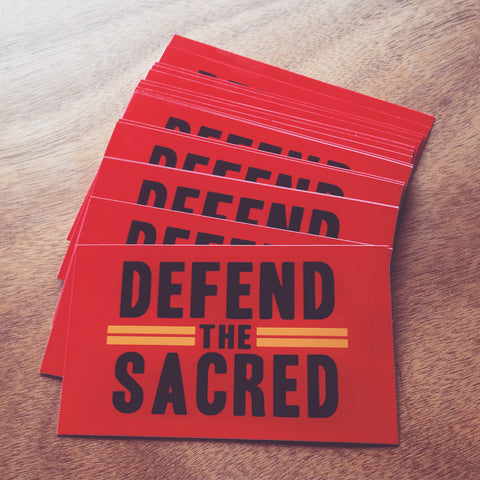 Defend The Sacred Rock Art Sticker