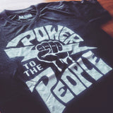 Power To The People Rock Tee - Mysterioso Rock Art