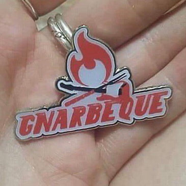 Gnarbeque 5 Glow-in-the-Dark Pin