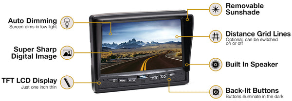Backup Camera System with Trailer Tow Quick Connect Kit RVS-770613-213 | Auto Truck Depot