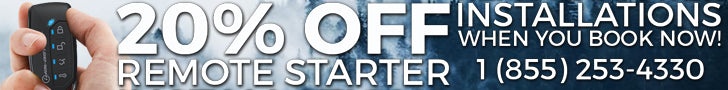 Get 20% off remote starter installations