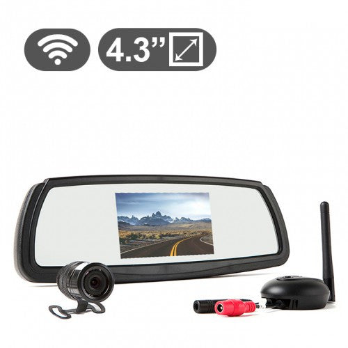 Wireless Backup Camera System with Mirror Monitor RVS-091407 | Auto Truck Depot
