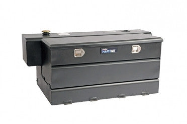 Combo Transfer Tank & Utility Chest - Black Steel (84 Gallon) | Auto Truck Depot