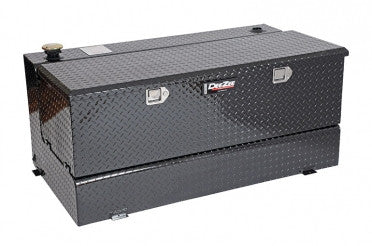 Combo Transfer Tank & Utility Chest - Black-Tread Aluminum (92 Gallon) | Auto Truck Depot