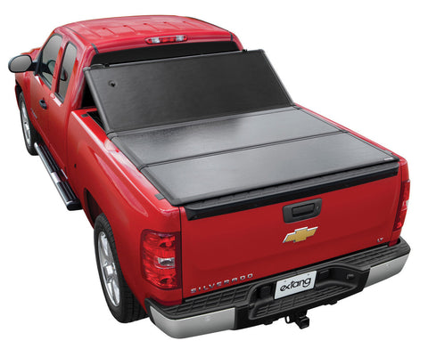 Extang Encore tonneau cover folding from the front