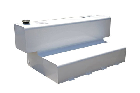 L-Shape Transfer Tank with Narrow Base - White Steel (84 Gallon) DZ91747S