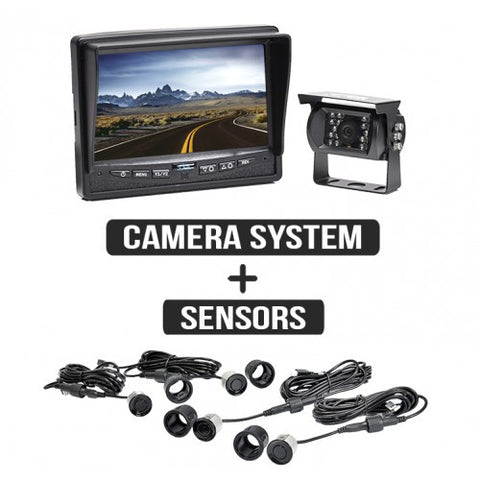 Backup Camera System with Rear Sensors RVS-770613-112 | Auto Truck Depot