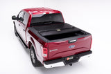 Partially opened truck bed cover