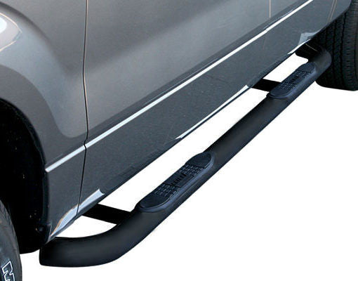 Aries 3 Inch Black Carbon Steel Round Side Bars