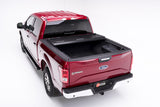Rear view of opened truck bed
