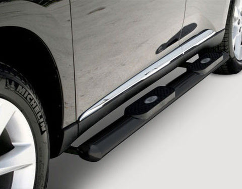 Aries 4 Inch Black Oval Side Bars