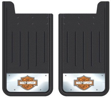 Plasticolor Textured Heavy Duty Mudflaps with Embossed Harley Davidson Logo (Pair)