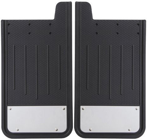 Plasticolor Textured Heavy Duty Mudflaps with Stainless Steel Trim (Pair)