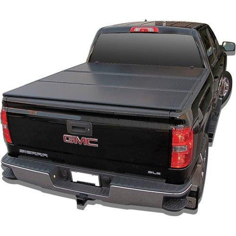 RTX solid folding truck bed cover