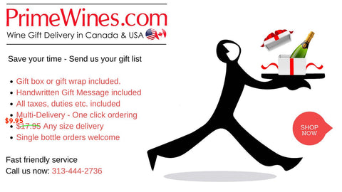 Send Wine Champagne Gifts To Canada Today Personalized Fast