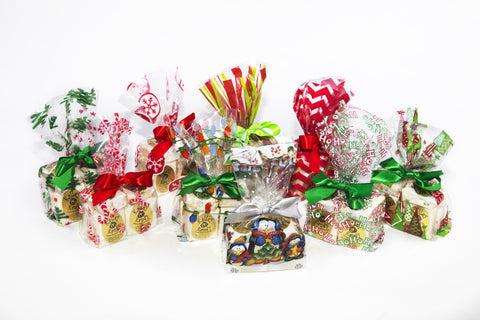 Honey Almond Nougat with Cranberries - 6 Piece Christmas cello bag
