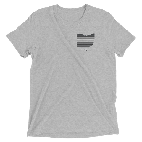 OHIO Pride Stripe - Unisex Tshirt (Grey)