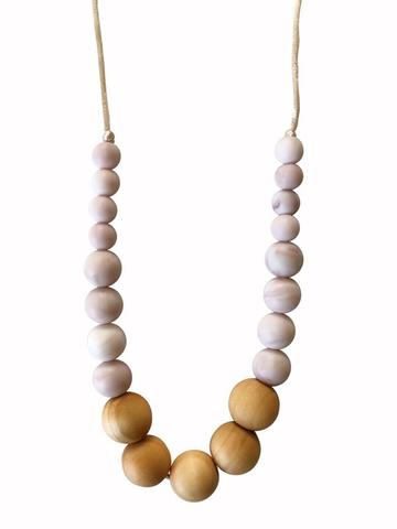 The Landon - Rose Quartz Teething Necklace