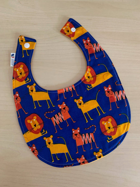 Liddle Handmade - Lions and Tigers Baby Bib