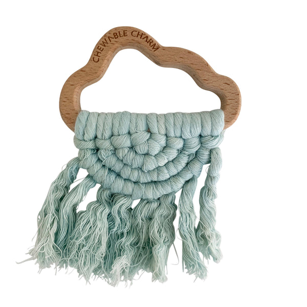 Teether - Blue Cloud Macrame