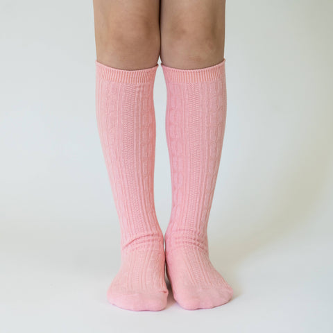 Little Stocking Co. - Carnation Pink Knee High Socks