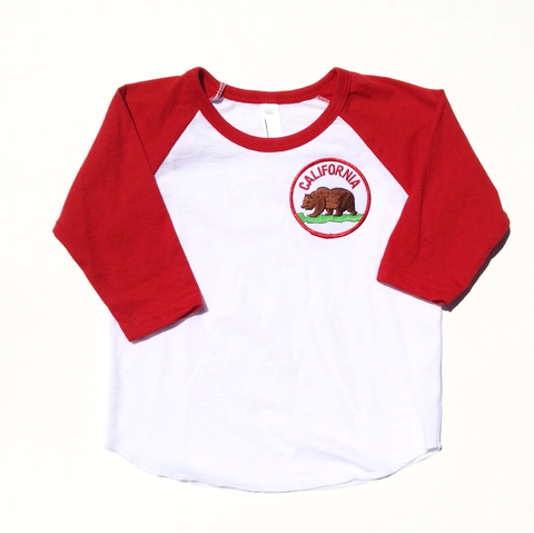 Bear Patch Raglan - California