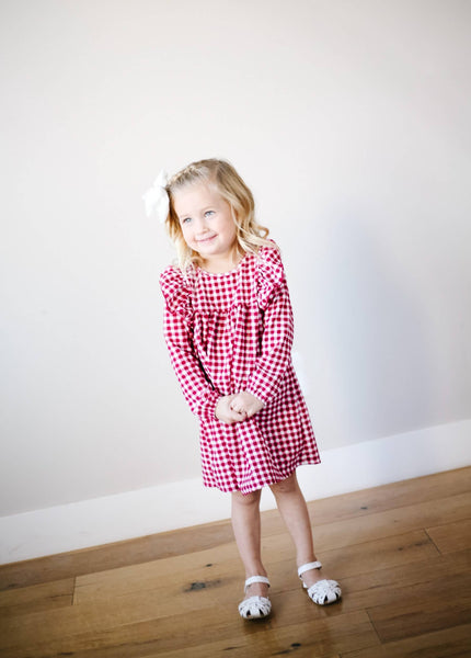 Toddler - Red Checkered Dress
