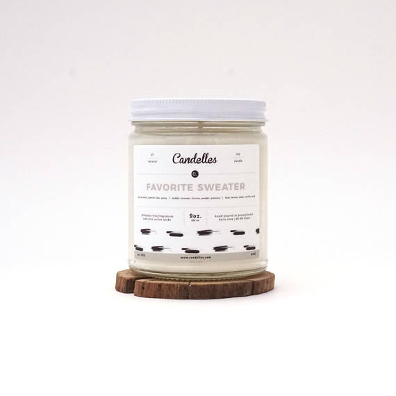 Candelles Candles - BEST SELLER - Favorite Sweater Scented Soy Candle - 9oz.