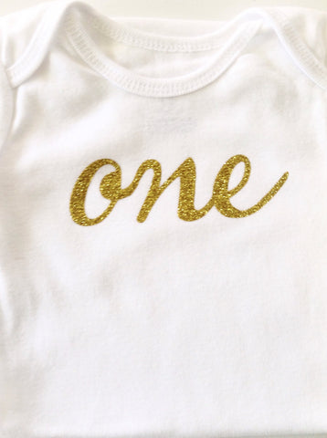 "Birthday Bodysuit - ""one"" or ""uno"""
