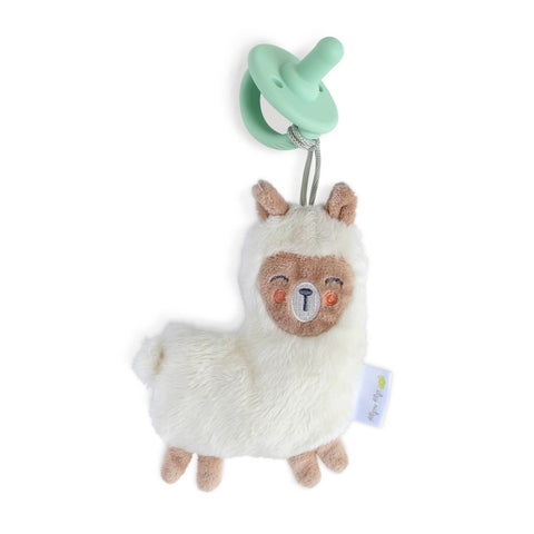 Itzy Ritzy - Llama Sweetie Pal™ Flat Lovey + Mint Cable Pacifier
