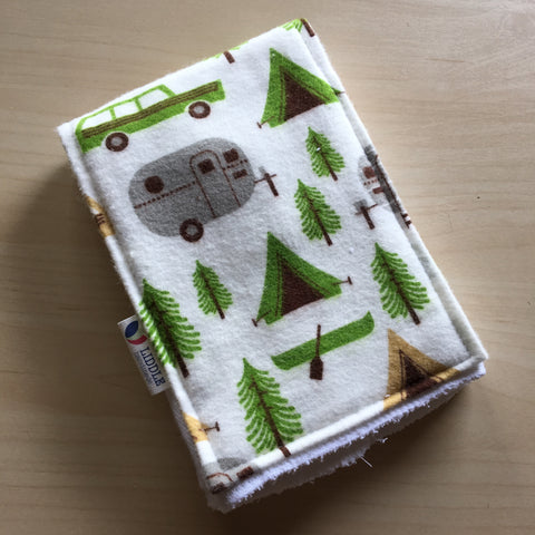 Liddle Handmade - Retro Camping Burp Cloth