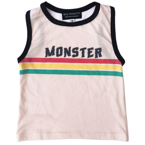 Wee Monster - SS19 PRE-ORDER: Monster Stripe Muscle Tank