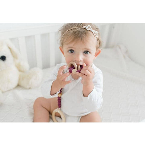 Modern Baby Paci / Toy Clip - Wood & Silicone