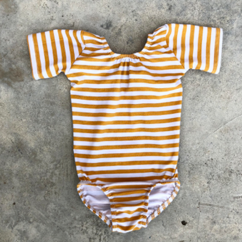 Wee Monster - Mustard Stripe Leotard