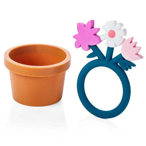 Lucy Darling - Flower & Pot Teether Toy Set