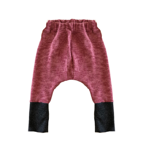 Wee Monster - Solid Red Heavy Rib Harem Pants