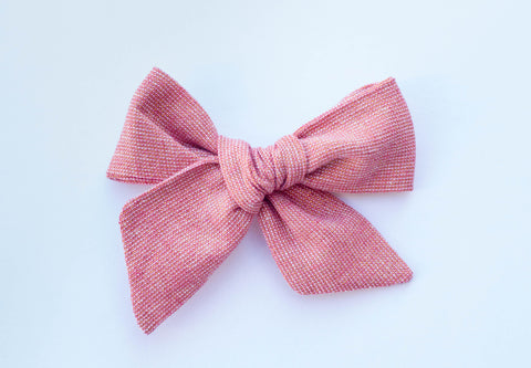 Wanderlust and Mayhem - Rose Shimmer Hair Bow
