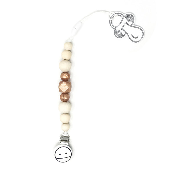 Miminoo - 2-in-1 Pacifer / Teether Clip (Rose Gold)