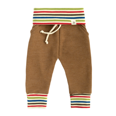 Toddler - Chestnut Rainbow Stripe Jogger Pants