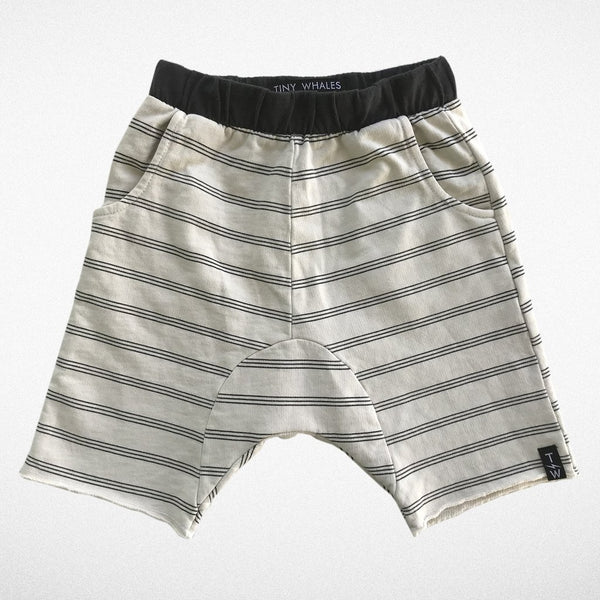 Striped Cozy Short - Tiny Whales