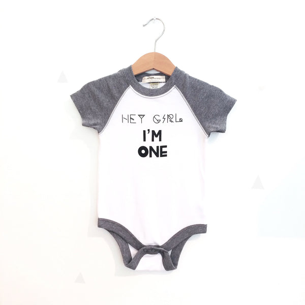 Hey Girl, I'm One - Birthday Bodysuit