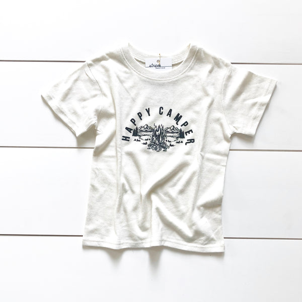 Recycled Poly Cotton Toddler Tee - Happy Camper