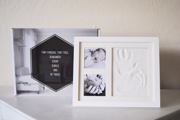 Baby Handprint & Footprint Clay Impression Kit with Frame