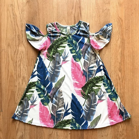 Tropic Cold Shoulder - Tot Dress
