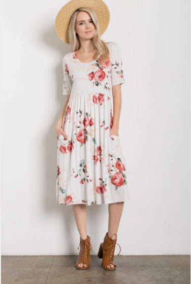 Mommy & Me - Rose Floral - Tot & Women's Dresses