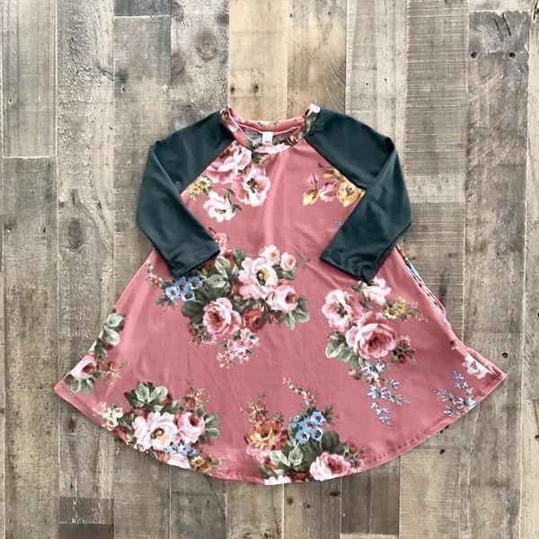 Rust Floral - Toddler Dress