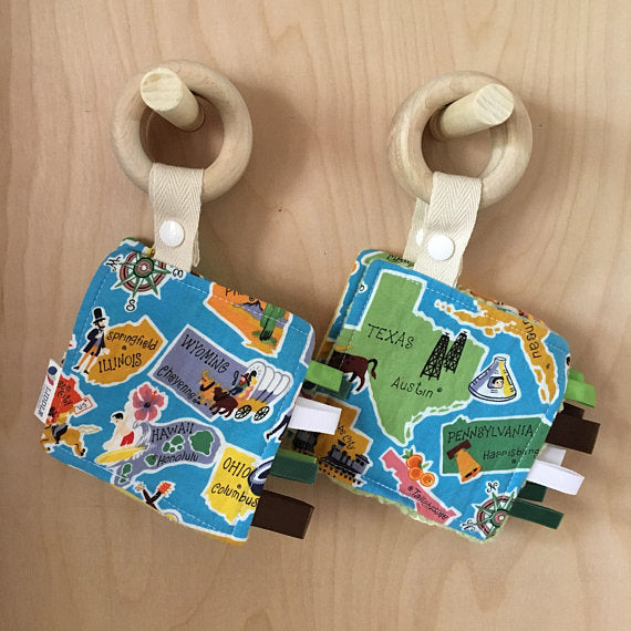 Liddle Handmade - Vintage States Wooden Sensory Teether