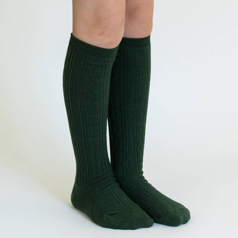 Little Stocking Co. - Forest Green Knee High Socks