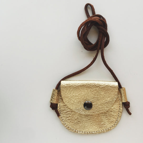 Wanderlust Pocket Purse - Gold